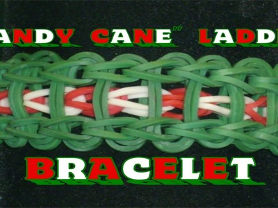 "Rainbow Loom® ""Candy Cane"" Ladder Bracelet Tutorial"