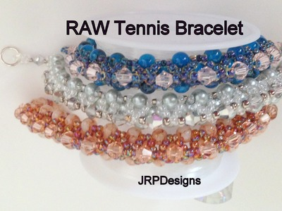 RAW Tennis Bracelet---Intermediate Tutorial