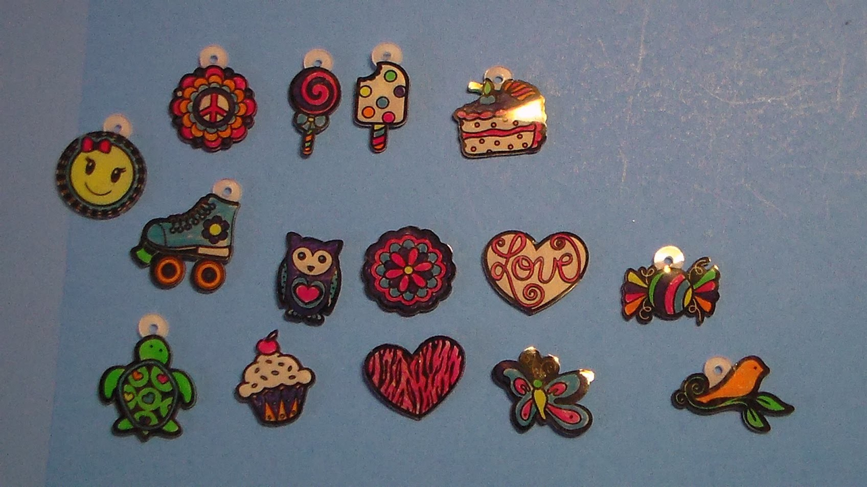 Shrinky Dinks Neon Jewelry Making Kit - Rings, Bracelet, Barrettes, Necklace, Hair Accessories