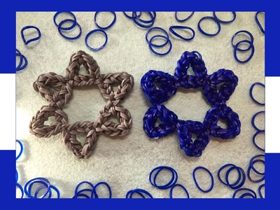 Star Of David Rainbow Loom Band Charm Tutorial | How to