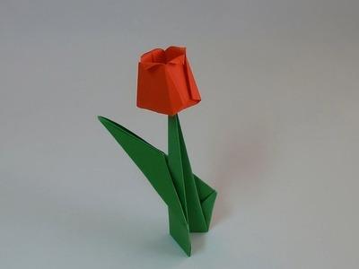 Tulipan - Origami #6 (Paper tulip)