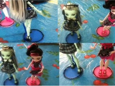Tutorial como hacer una base o soporte para muñecas. How to make a doll stand Monster High