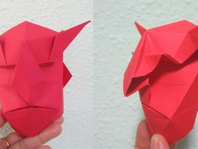 TUTORIAL - How to make Origami Devil Mask (Creator: Jun Maekawa)