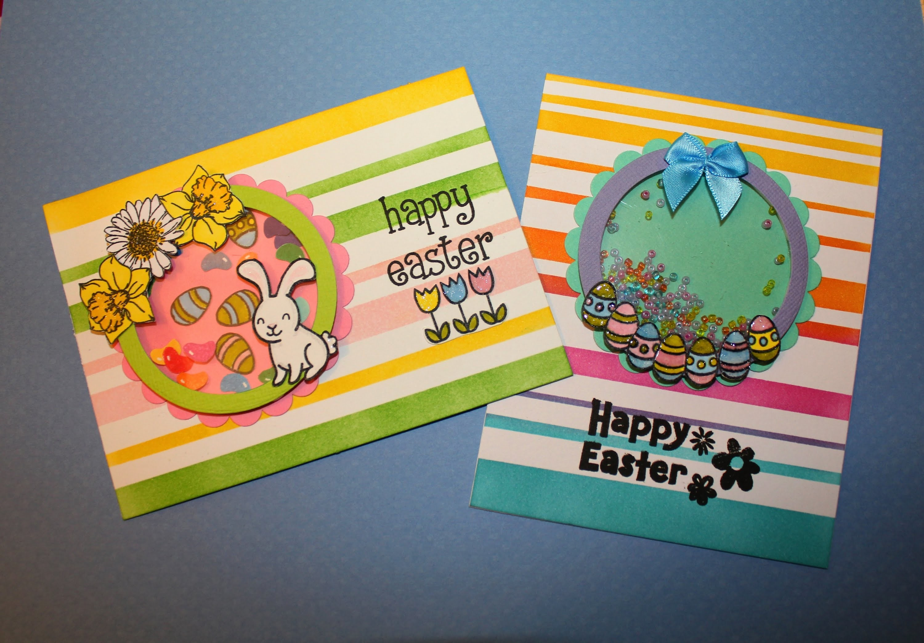 Two Fun Easter Shaker cards