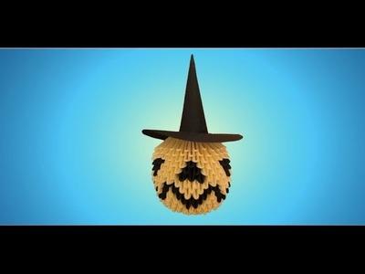 3D Origami Halloween Pumpkin Tutorial
