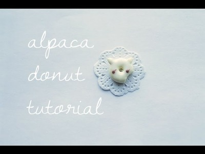 Alpaca Donut Clay Tutorial