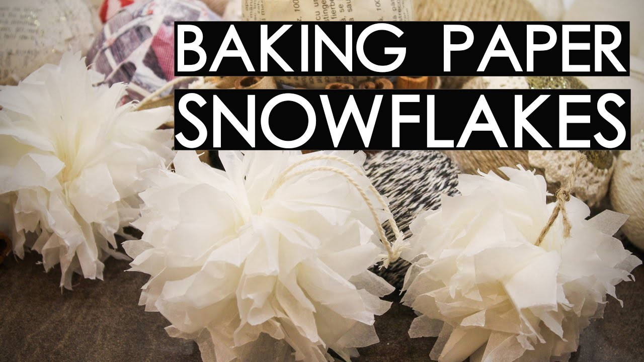 Baking Sheet Snowflakes DIY | Rustic Christmas Decorations (part 1)