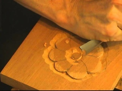 Beginning Woodcarving - How to Carve a Basic Flower with Mary May