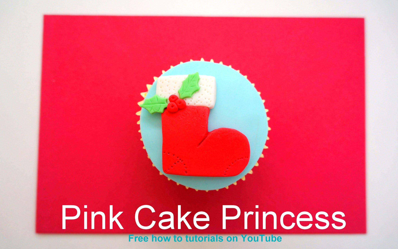 Christmas Cupcakes - How-to Make a Christmas Stocking Cupcake