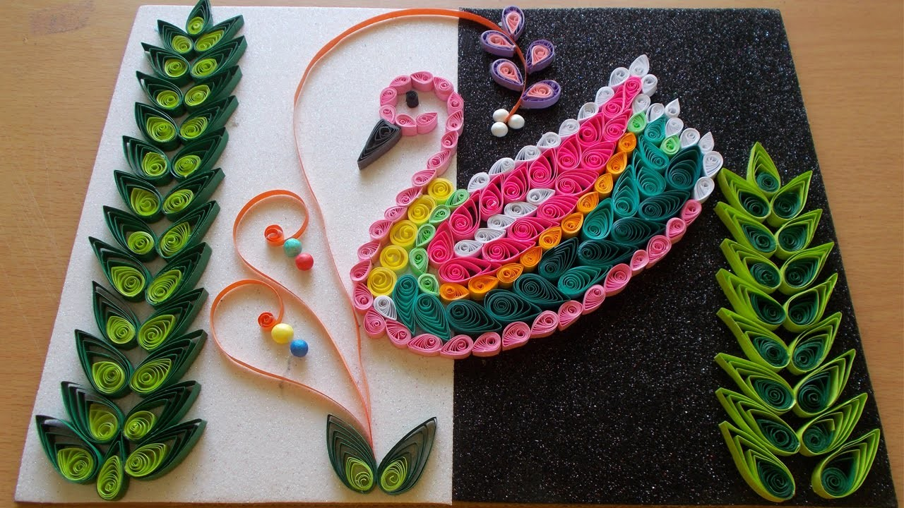 Creative & Easy Paper Quilling Design : How to Make Wall Decor Using Duck Quilling Pattern