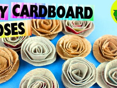 DIY Cardboard Roses- Easy Crafts