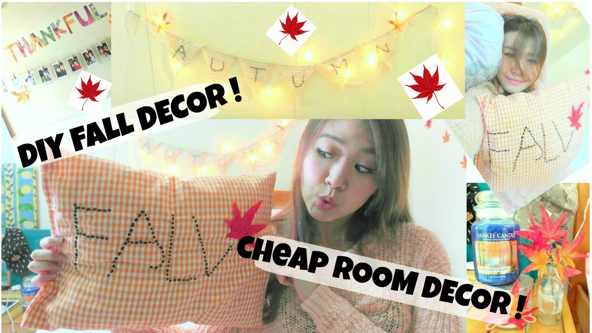 DIY Fall Room Decor !!!♥ SUPER Cozy, cute + cheap ideas! ♥