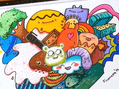 DIY Kawaii Fantasy Doodle - How to draw a cute doodle  \ Come disegnare disegni kawaii