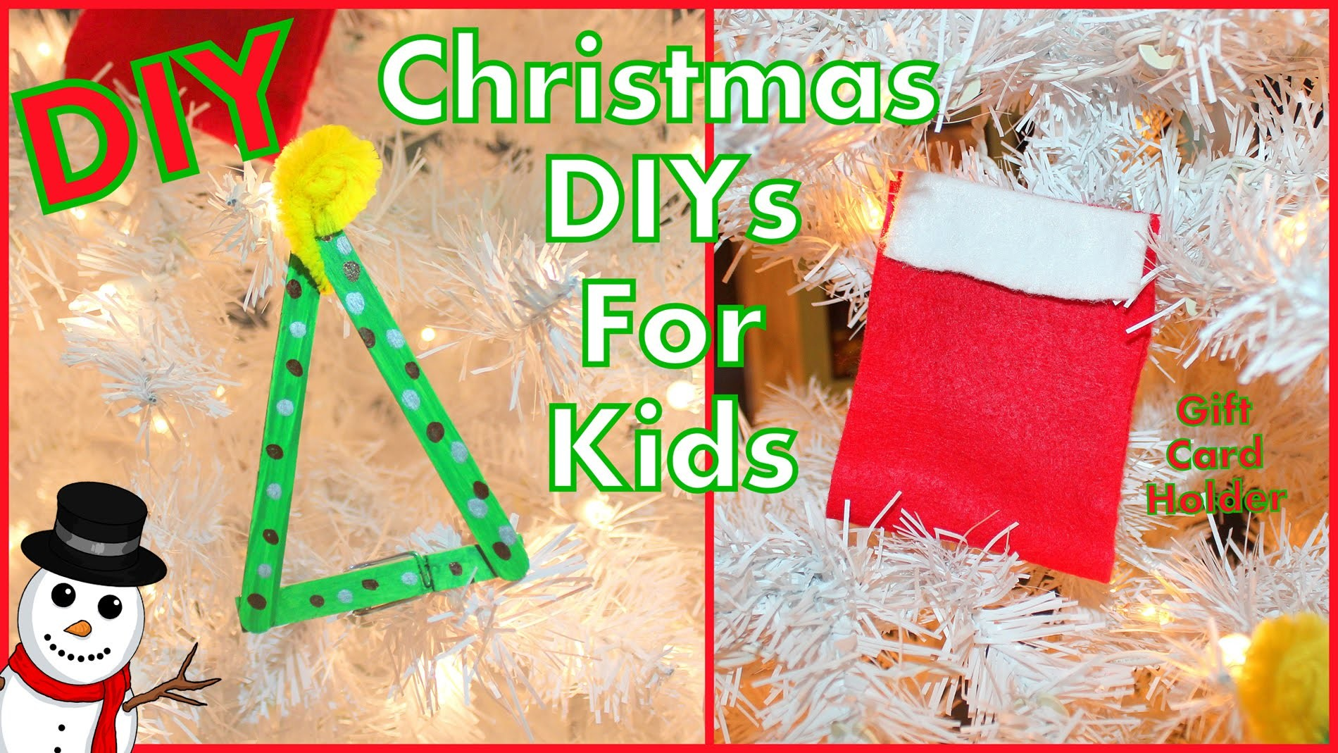 DIY Kids Christmas Crafts | DIY Gift Card Holder & Tree Ornament | Christmas Collab | Christmas Fun