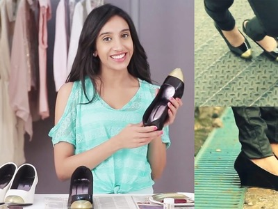 DIY: Metallic Cap Toe Heels