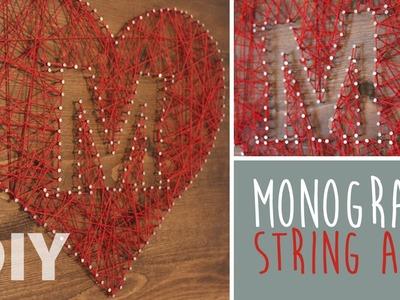 DIY Monogram String Art
