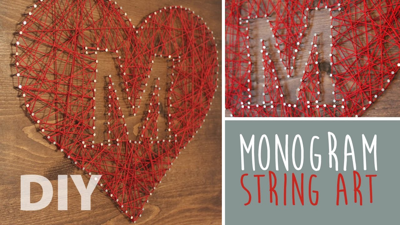 DIY Monogram String Art