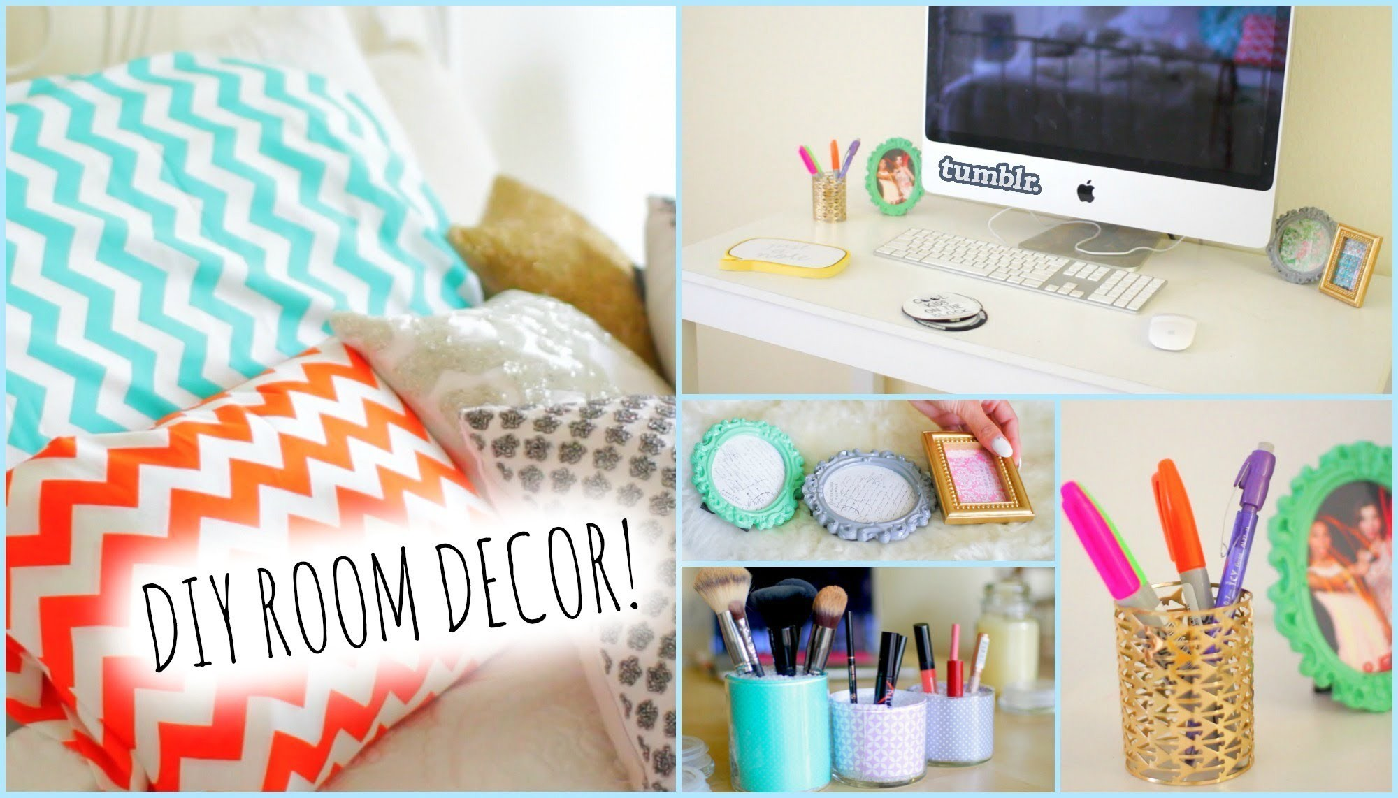 DIY Room Decor! Ideas for Teenagers| Wall Decor &Pillows