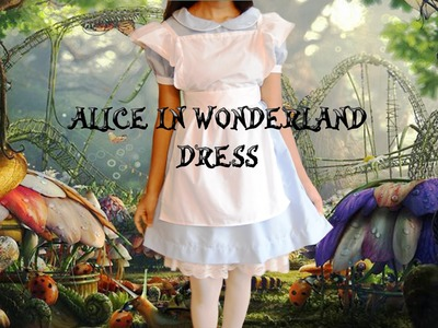 DIY Simple Alice in Wonderland Dress