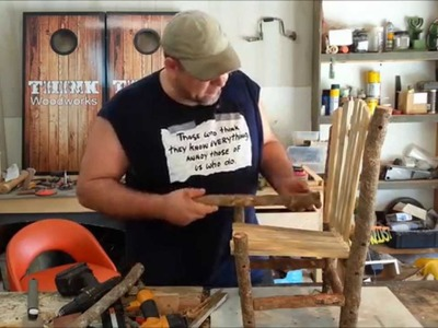 DIY - Small Rustic Chair - With Limited Tools