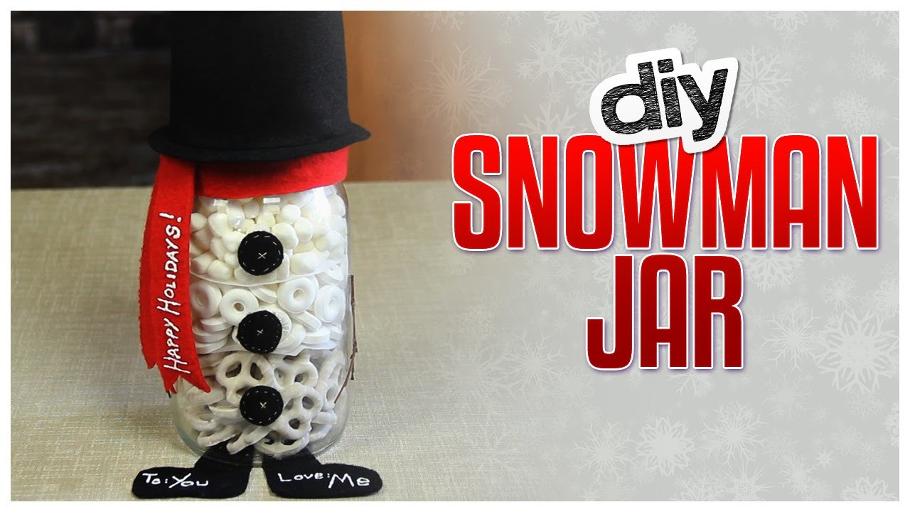 DIY Snowman Snack Jar - Do It, Gurl