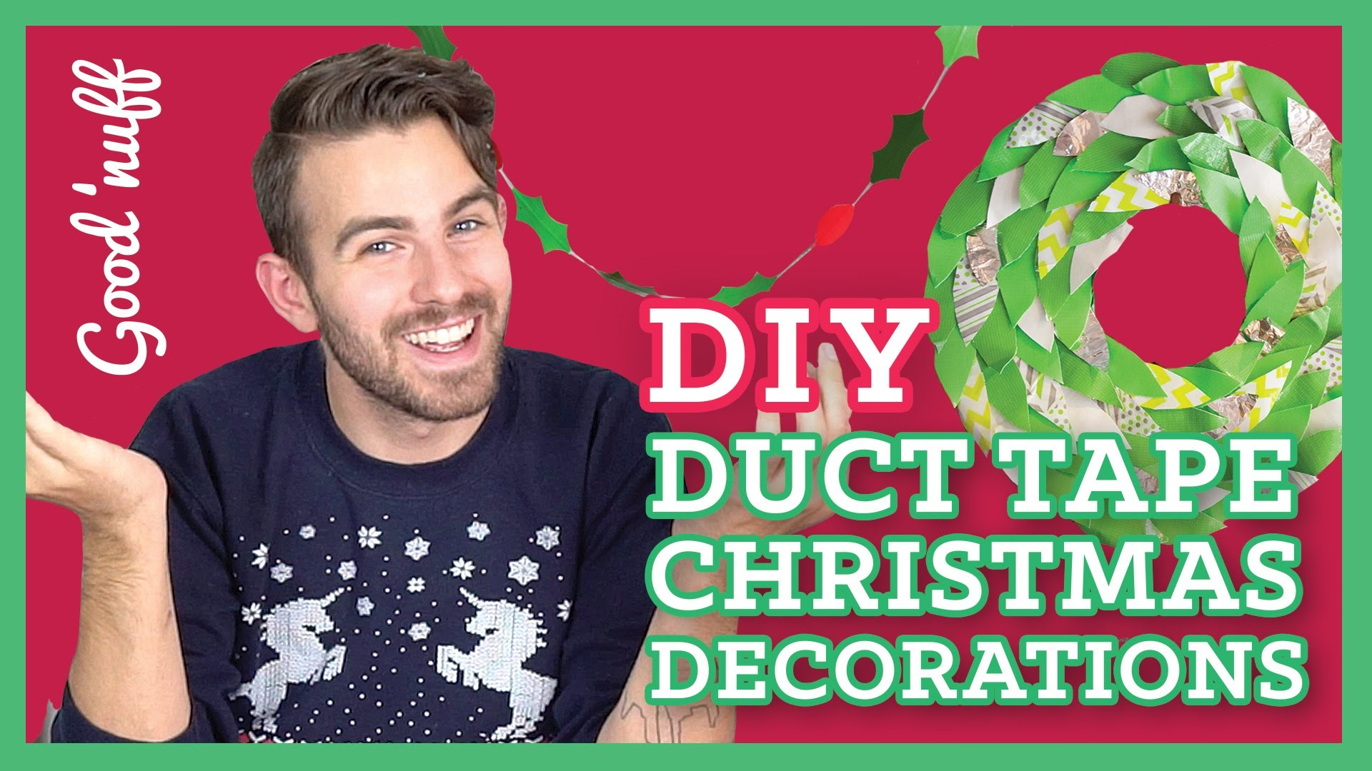 EASY DIY Duct Tape Christmas Decorations!