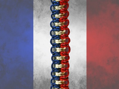 Easy Friendship Bracelet in the colors of French Flag (DIY)