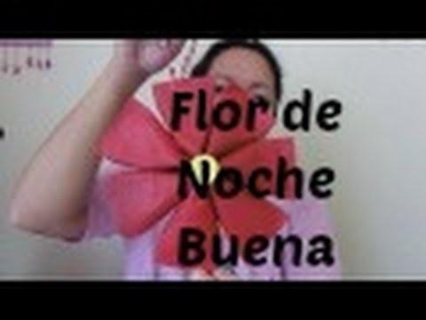 Flor de Noche Buena; usando tubos de papel higenico