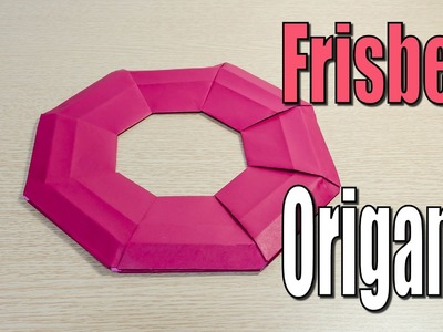 Frisbee paper airplane origami tutorial