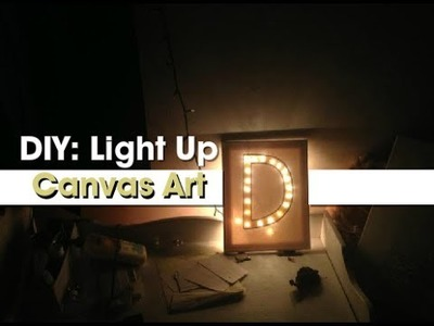 Gift Idea: DIY Light-Up Canvas Art