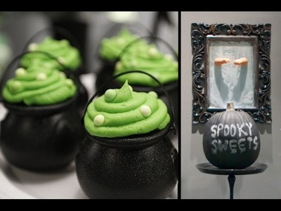 HALLOWEEN PARTY IDEAS - Cauldron Cupcakes, Candy Apples, Chalkboard Pumpkins & MORE | Sweet Styling