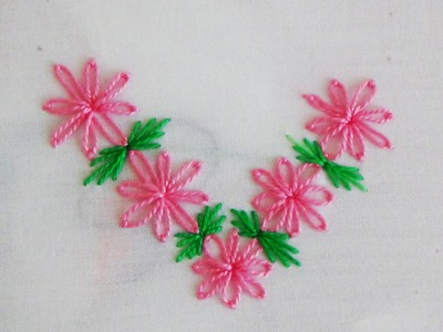 Hand Embroidery: Lazy Daisy Flowers Variation