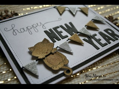 Happy New Year Card with Newton's Nook Designs