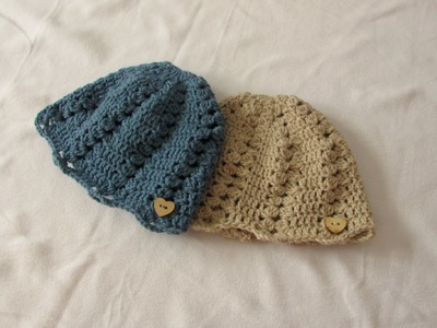 How to crochet a pretty women's hat. beanie