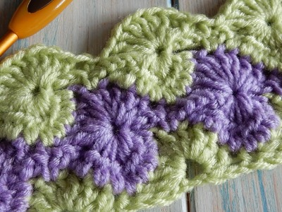 How to Crochet Catherine Wheel. StarBurst Stitch