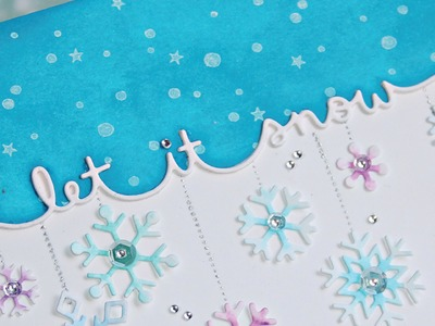 How to make a cute & elegant Winter card