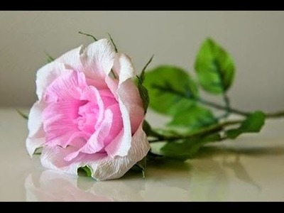 How to make a paper rose - Easy crepe paper flower tutorial