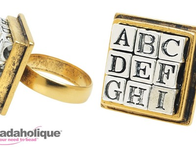 How to Make an Alphabet Ring