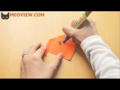 How to Make an Origami Dog Face - Origami Tutorial