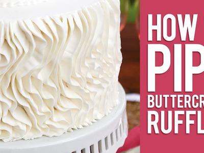 How to Pipe Buttercream Ruffles