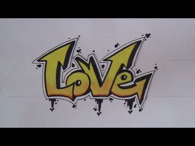 How to write graffiti letters - easy version for beginners