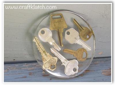Keys Coaster   Garage Sale Find Another Coaster Friday DIY