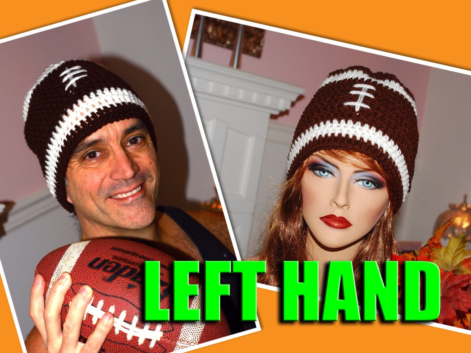 **LEFT HAND** Glama's His & Hers Football Beanie