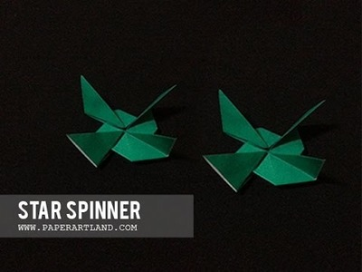 Let's make an origami Air Spinner that spins on a table