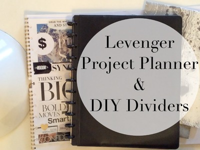 Levenger Notebook Setup. Project Planner + DIY Marble Dividers