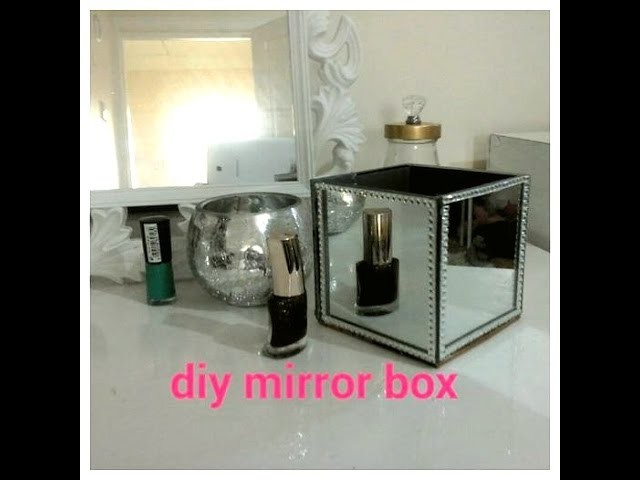 Mirror box  for your vanity table. Organise your dressing table  with DIY Mirror box