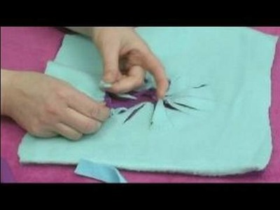 No-Sew Fleece Ponchos : Tying Neckline Trim for a Reversible Poncho