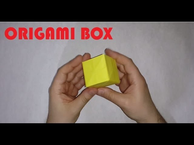 Origami BOX-  How to make a ORİGAMİ BOX