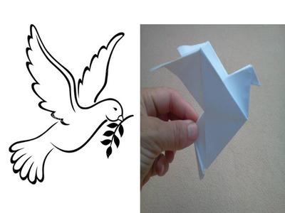 Origami Peace dove - Paloma de la paz de papel