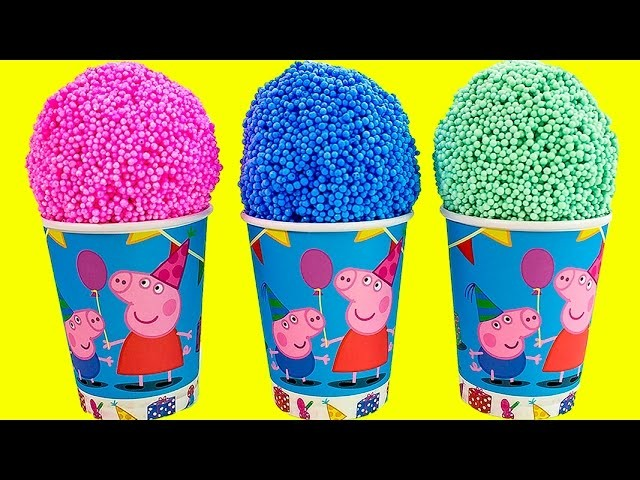 Peppa Pig Foam clay Surprise Eggs Ice Cream cups Disney Princess Thomas Spongebob